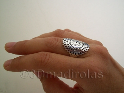 Sterling silver ring.