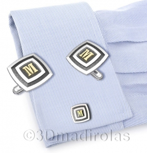 cufflinks customized. Silver 925 and Gold 18k.