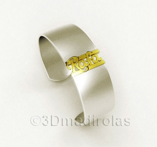Personalized gold/silver bracelet.