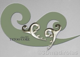 Modern design. Silver earrings TATOO.