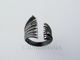 Personalized silver ring. Two names.