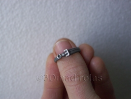 Personalized silver ring. Two initial letters.