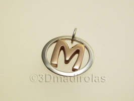 Custom pendant with capital letter.