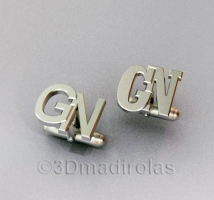 cufflinks customized with 2 capital letters.