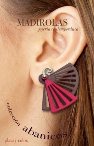 Sterling silver and color earring.