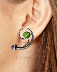 Sterling silver925 earrings with color stones.