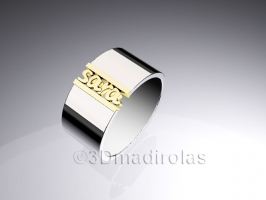 Personalized gold/silver ring 2