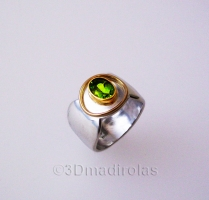 ARO FORM rings: Silver 925/Gold 24k.