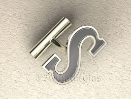 cufflinks customized first letter.
