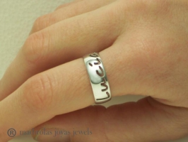 Personalized silver ring