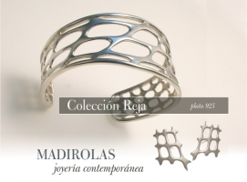 Contemporary design. Silver bracelet.
