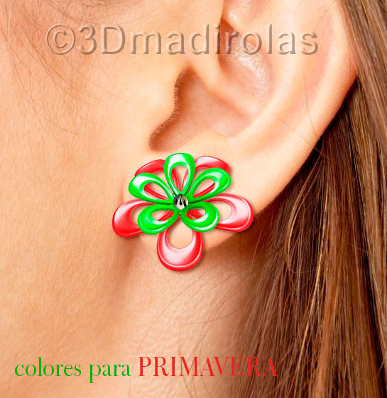 earrings flowers 1w