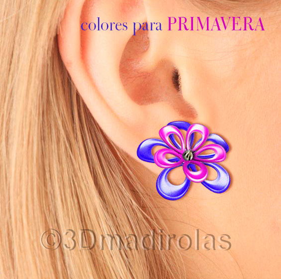 earrings flowers 2w